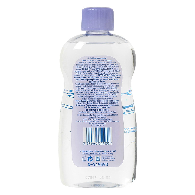 Aceite corporal lavanda dulces sueños Johnson's Baby 500 ml. - 2
