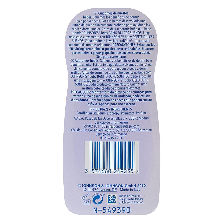 Aceite corporal lavanda dulces sueños Johnson's Baby 500 ml. -