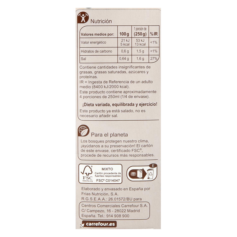 Caldo de Pescado Carrefour sin gluten 1 l. - 2