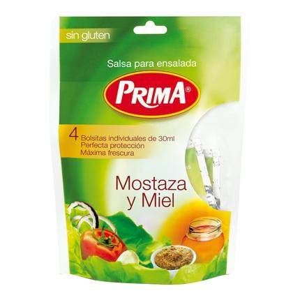 Salsa para ensalada sin gluten mostaza y miel