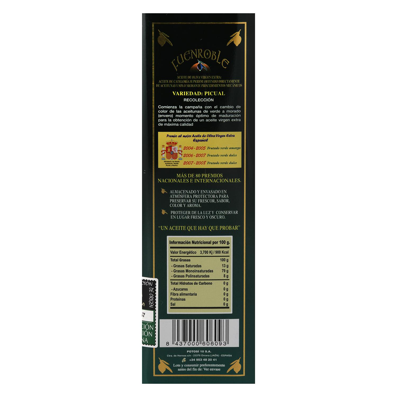 Aceite de oliva virgen extra Fuenroble lata 1 l. - 2
