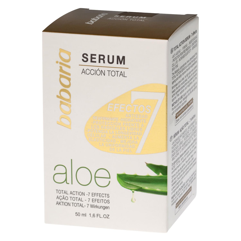 Serum Acción Total 7 efectos Aloe Babaria 50 ml.