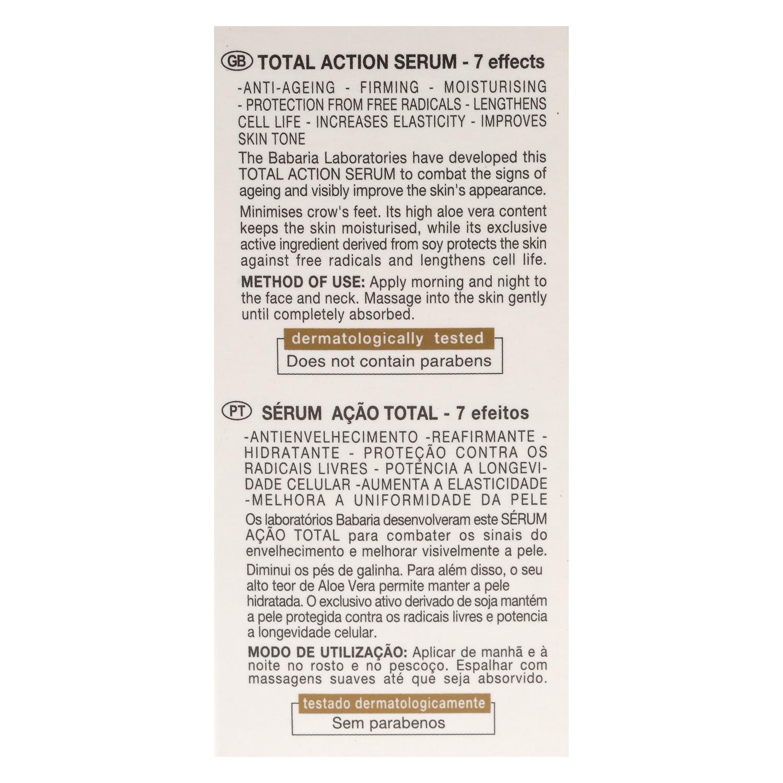 Serum Acción Total 7 efectos Aloe Babaria 50 ml. - 2