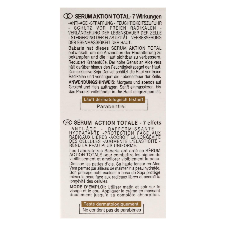 Serum Acción Total 7 efectos Aloe Babaria 50 ml. - 4