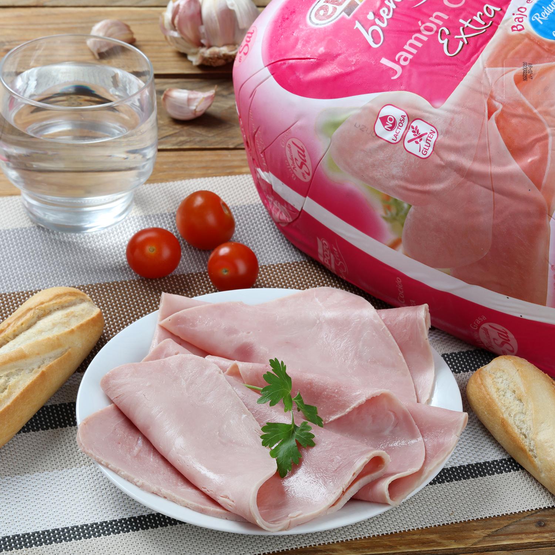 Jamón cocido extra sin sal  0% grasa