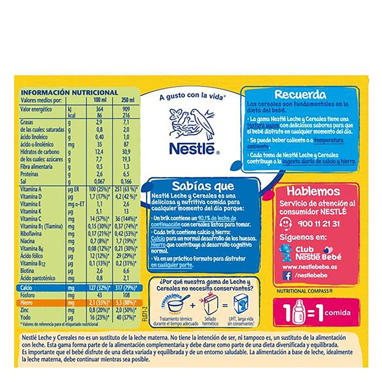 Papilla líquida de cereales multifrutas -