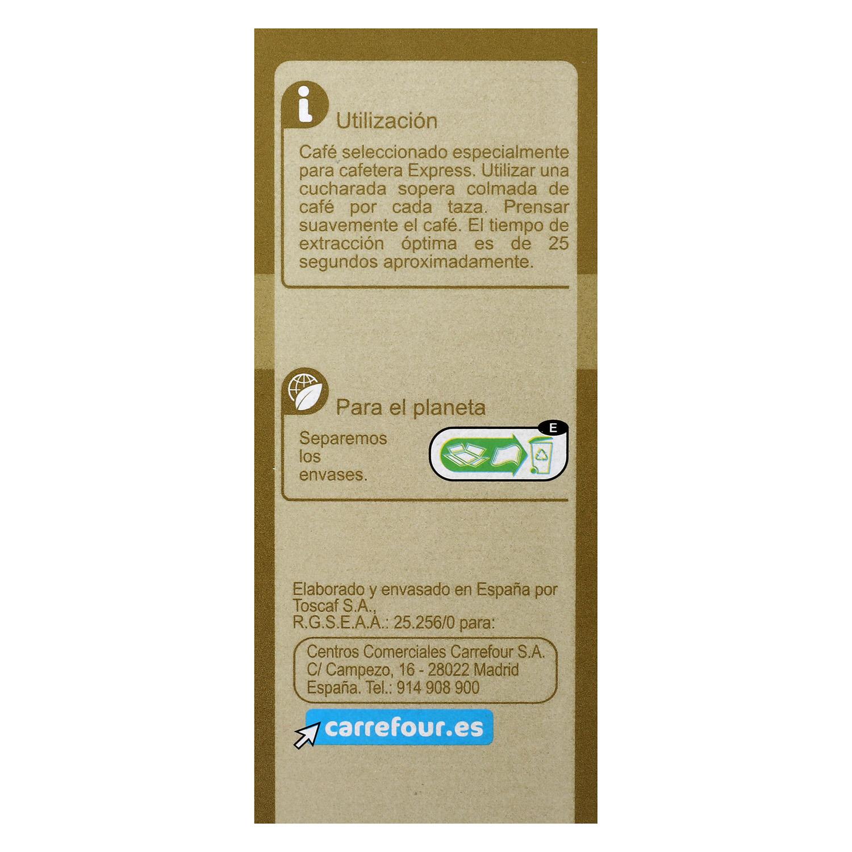 Café molido natural Express Carrefour 250 g. - 2