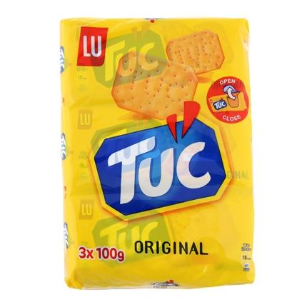 Crackers Lu pack de 3 unidades de 100 g.