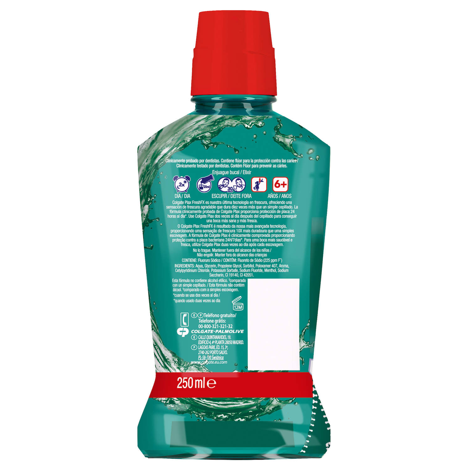 Enjuague bucal Plax multiprotección Colgate 250 ml. -