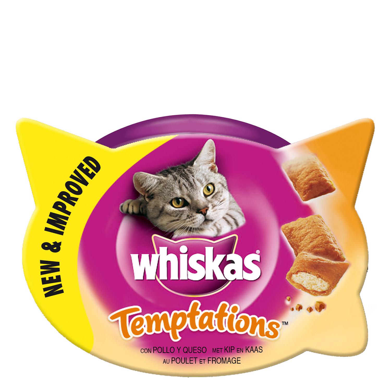 Snacks para gatos Temptations con Pollo
