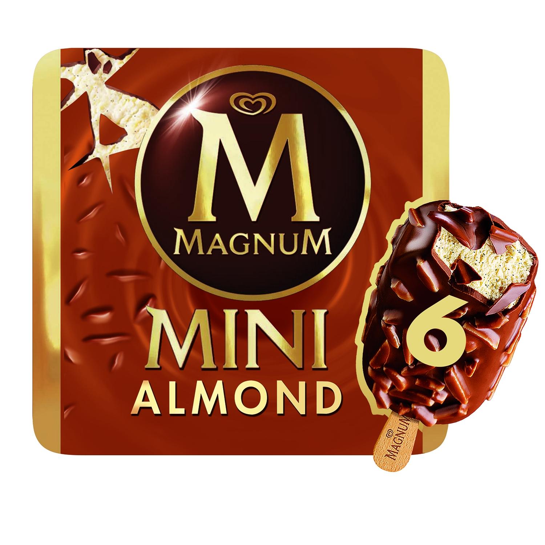 Mini bombón helado Almond Magnum sin gluten 6 ud.
