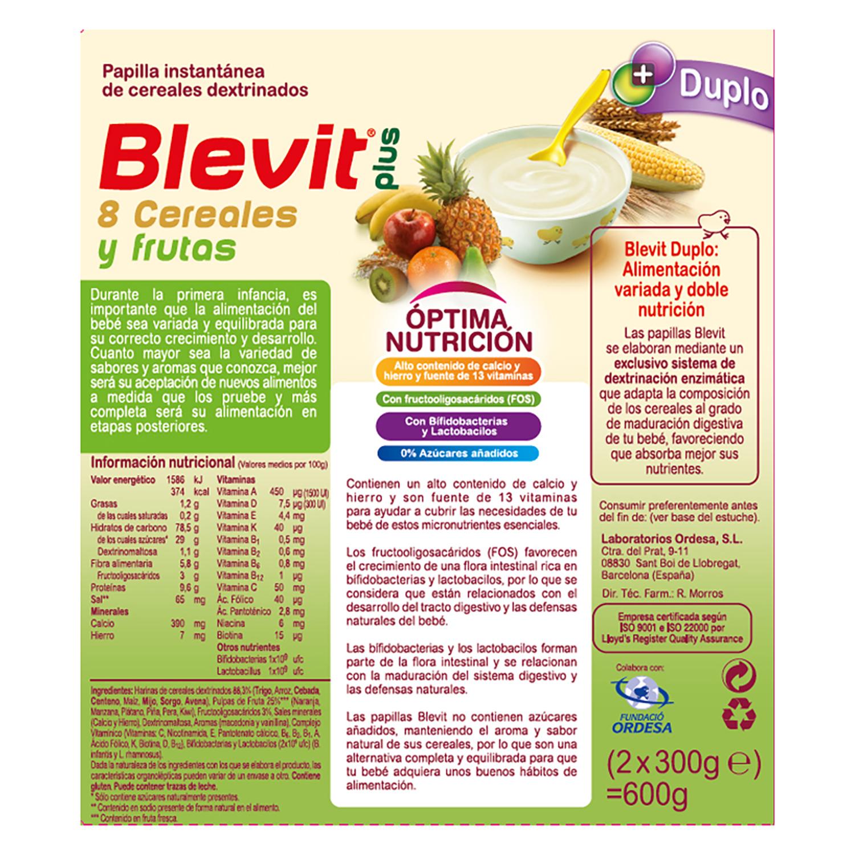 Papilla 8 cereales y frutas -