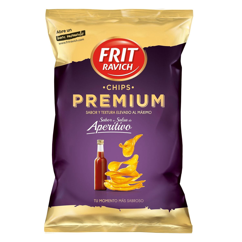 Patatas fritas sabor salsa premium Frit Ravich 150 g.