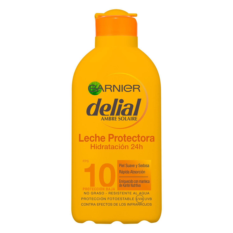 Leche protectora ultra-hidratante factor de protección 10 Delial 200 ml.