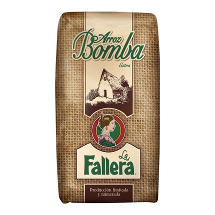 Arroz bomba La Fallera categoría extra 1 kg.