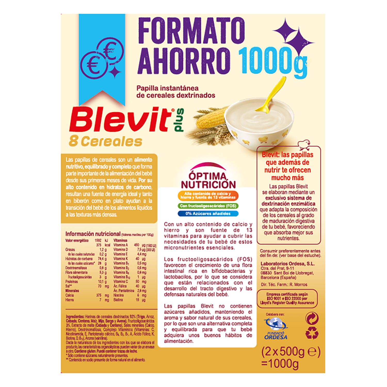 Papilla de 8 cereales Blevit plus 1000 g. -