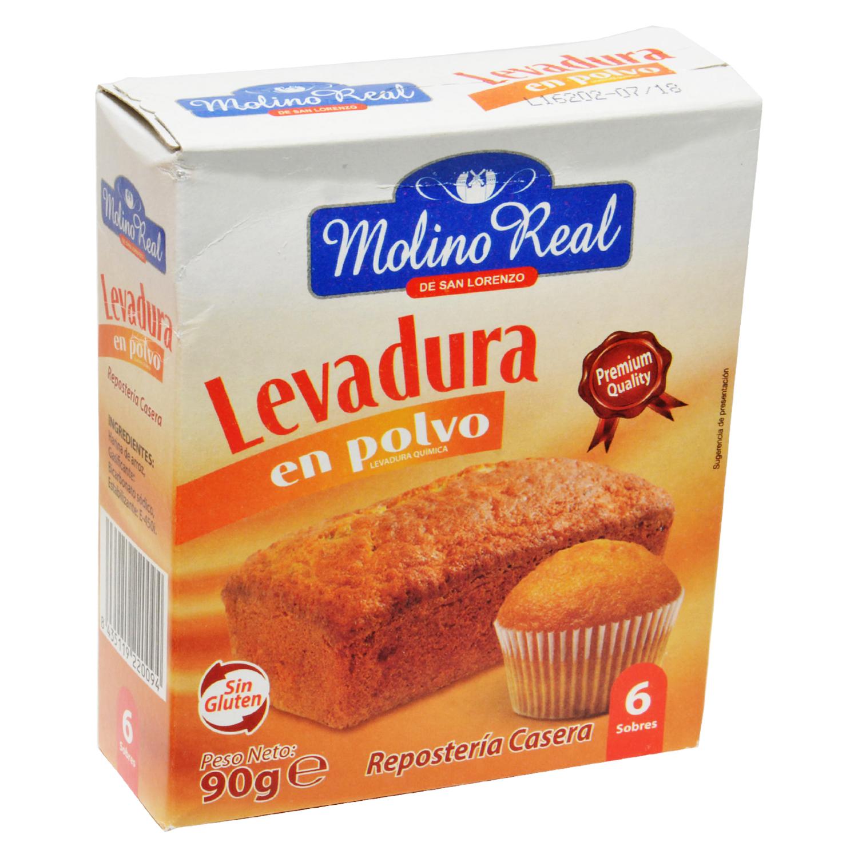 Levadura en polvo Molino Real sin gluten 110 g.