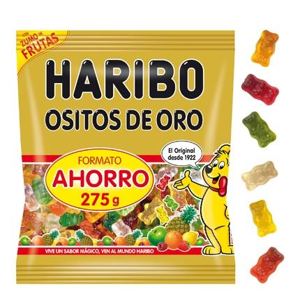 Ositos de goma Ositos de Oro Haribo 275 g.