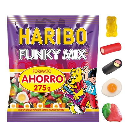 Caramelos de goma Funky Mix Haribo 275 g.