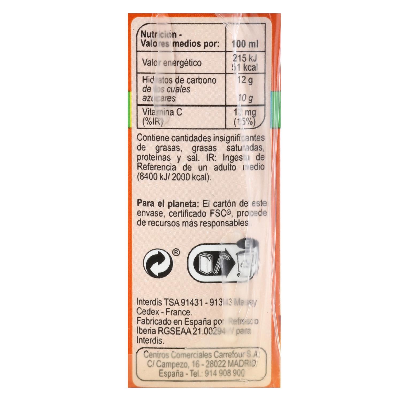 Zumo de melocotón, manzana y uva Carrefour pack de 6 briks de 20 cl. - 2