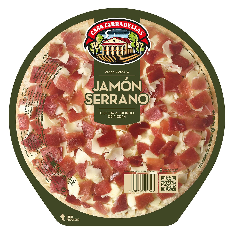 Pizza de jamón serrano Casa Tarradellas 390 g.