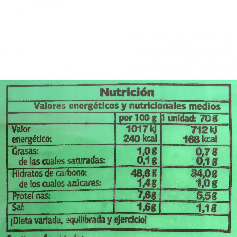 Pan de molletes 1/2  El Antequerano envase 4 ud  - 2