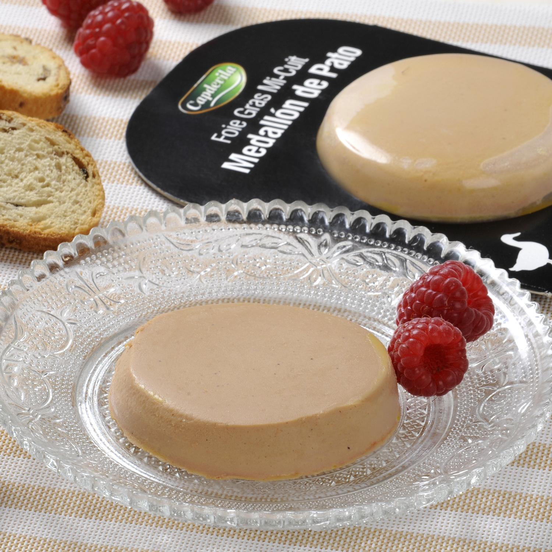 Foie gras de pato Mi-Cuit medallón Capdevila 40 g