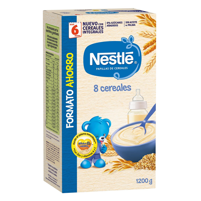 Papilla de 8 cereales con Bífidus en polvo Nestlé 1200 g.