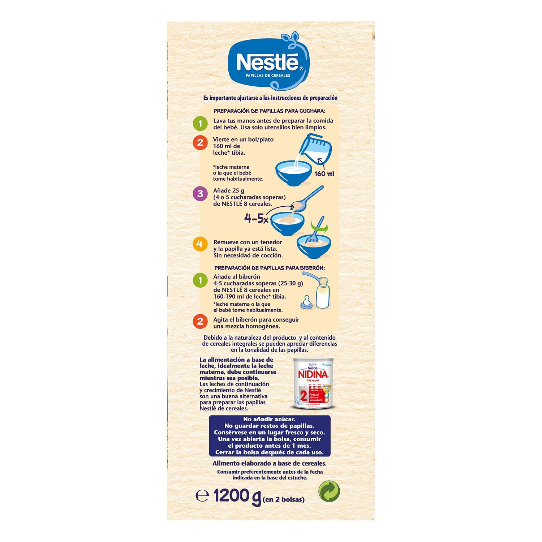 Papilla de 8 cereales con Bífidus en polvo Nestlé 1200 g. - 2
