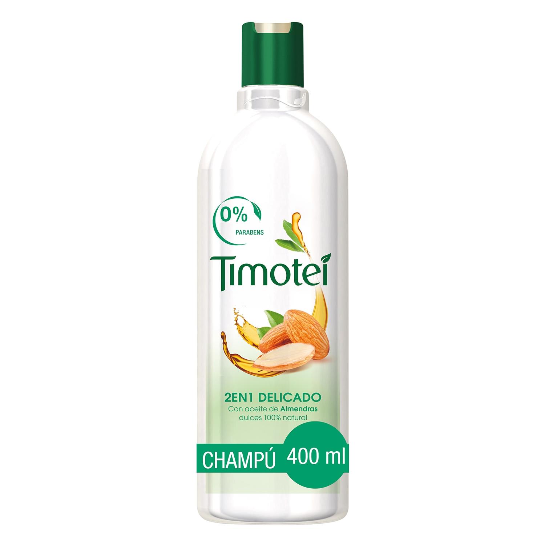 Champú nutritivo de Leche de Almendras & Flor de Vainilla Timotei 400 ml.