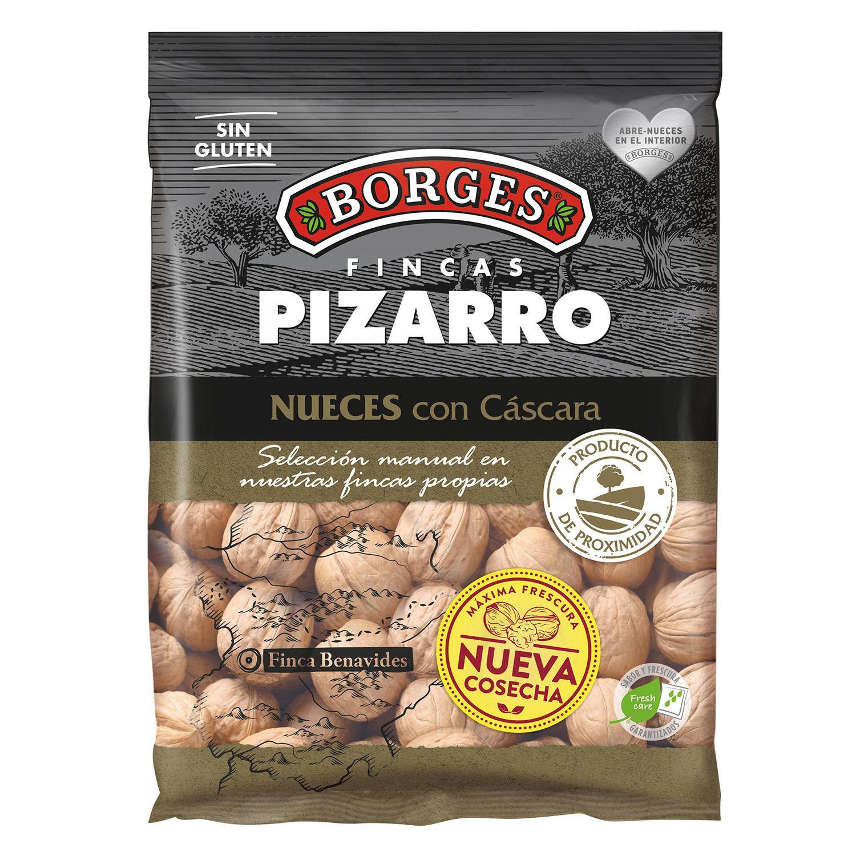 Nueces con cáscara Borges sin gluten 500 g.