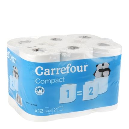 Papel higiénico compact doble rollo