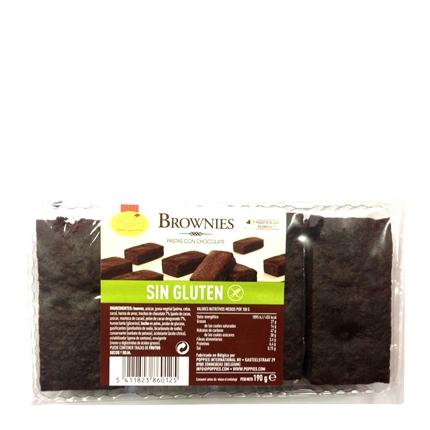 Brownies de chocolate Poppies sin gluten 190 g.
