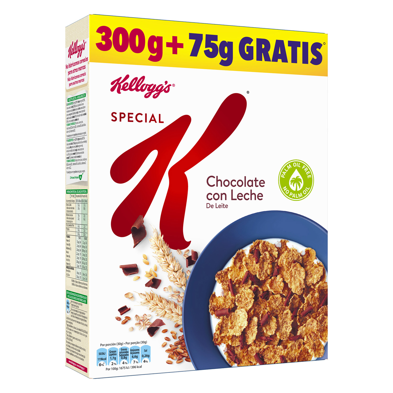 Cereales de arroz y trigo con chocolate con leche  Special K Kellogg's 300 g.