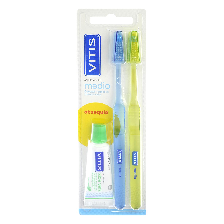 Cepillo dental medio Vitis 2 ud.