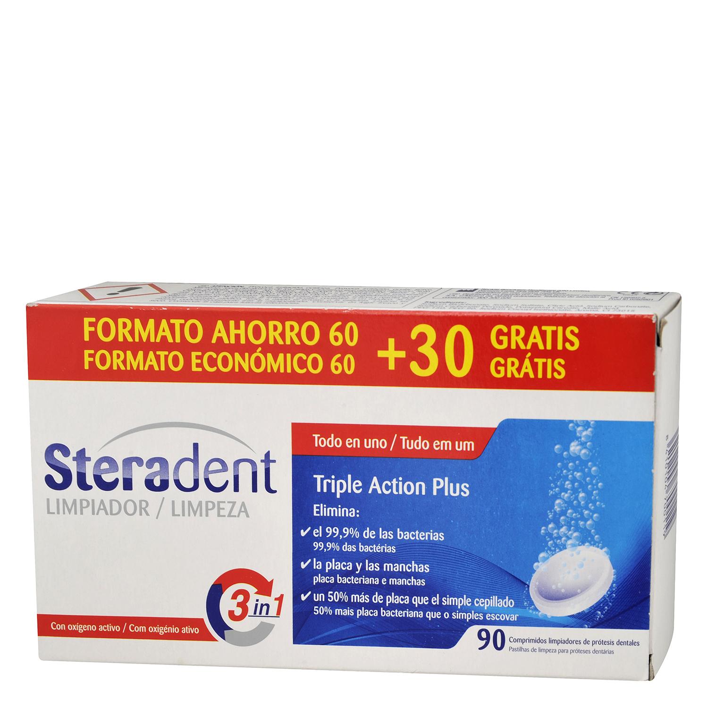 Limpiador para prótesis dentales Steradent 60 ud.