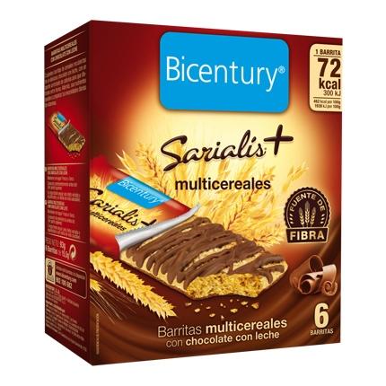 Barrita multicereales con chocolate con leche