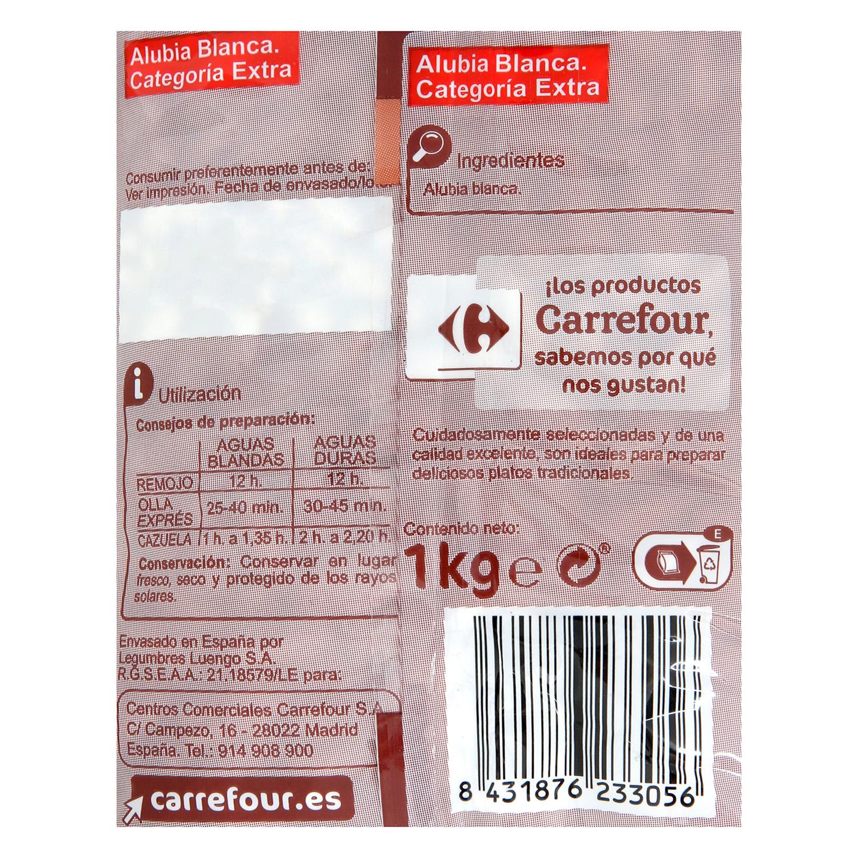 Alubia blanca Carrefour categoría extra 1 kg. -