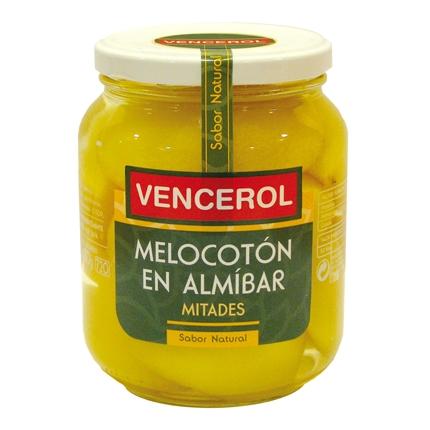 Melocotón en almíbar en mitades Vencerol 700 g.