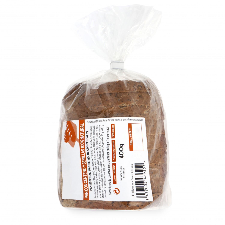 Pan de centeno con semillas natural 100% Panadería Milagros 500 g