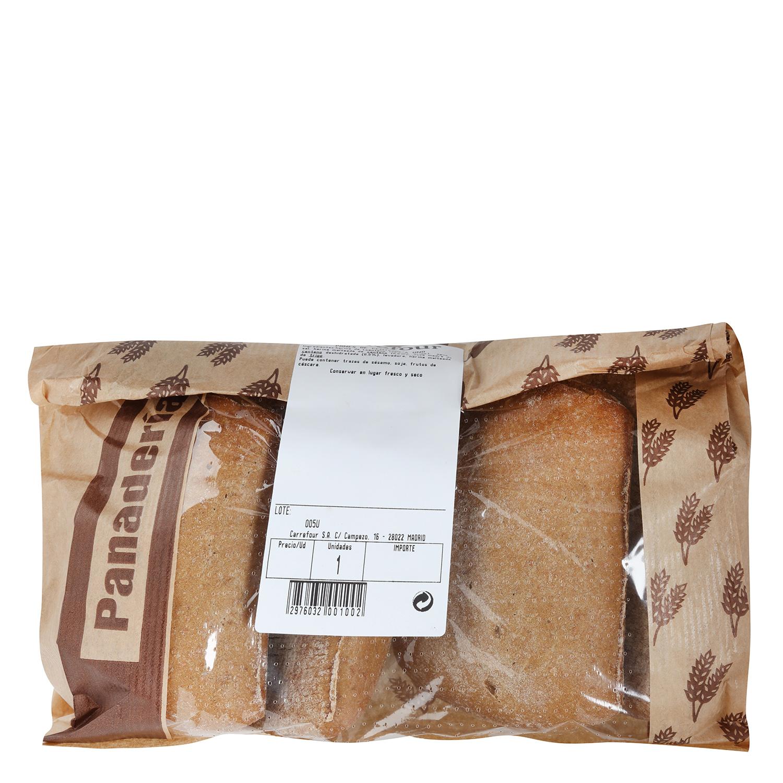 Pan de centeno con semillas natural 100% Panadería Milagros 500 g -