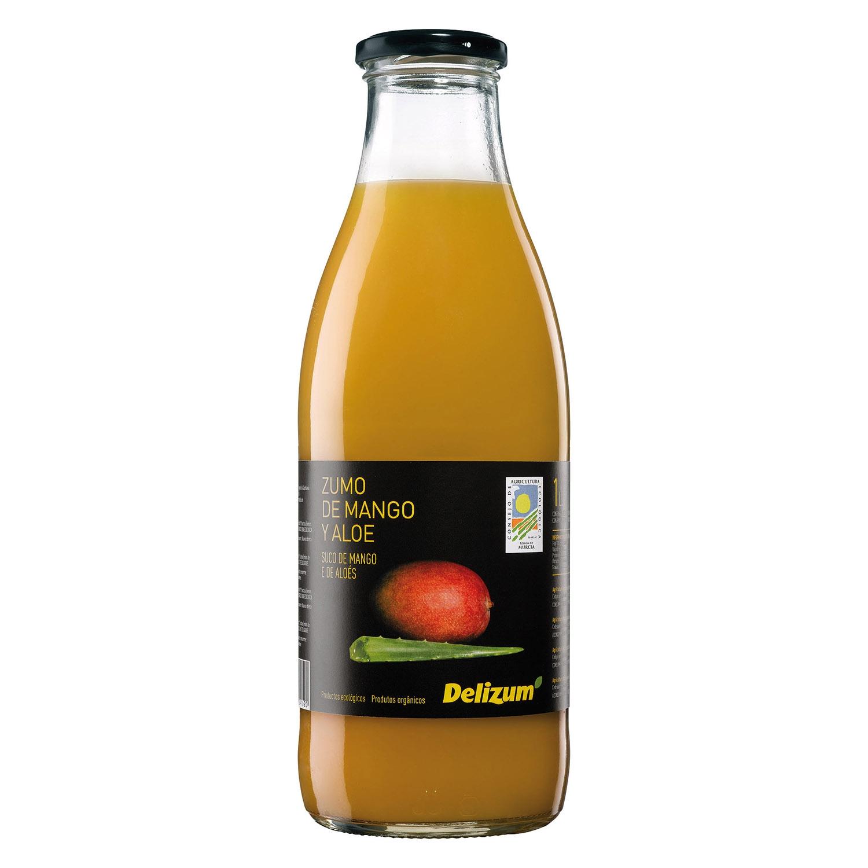 Zumo de mango y aloe ecológico Delizum botella 1 l.