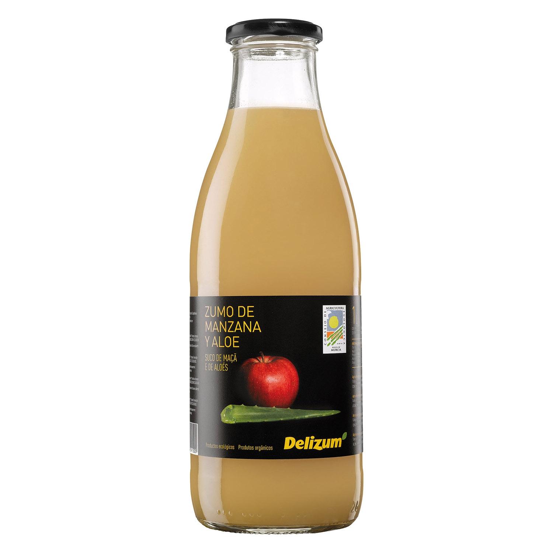 Zumo de manzana y aloe ecológico Delizum botella 1 l.