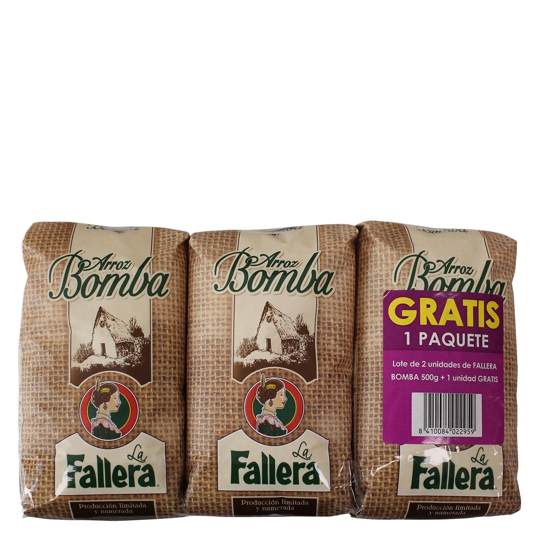 Arroz bomba La Fallera pack de 2 ud. de 500 g.