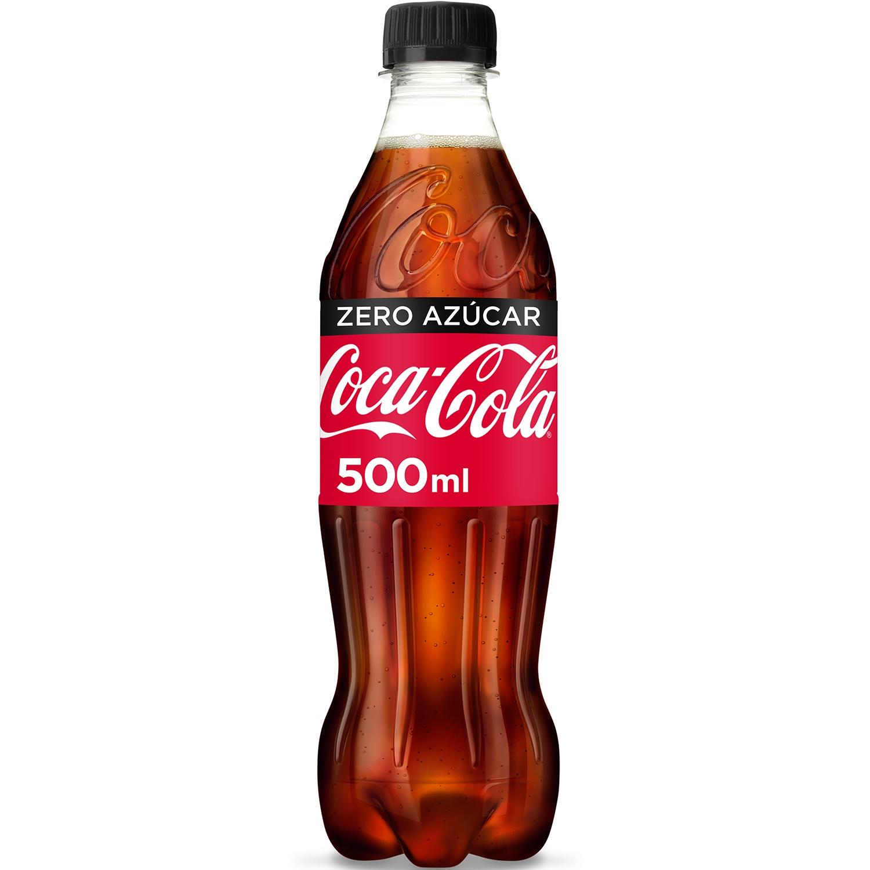 Refresco de cola Coca Cola zero botella 50 cl.