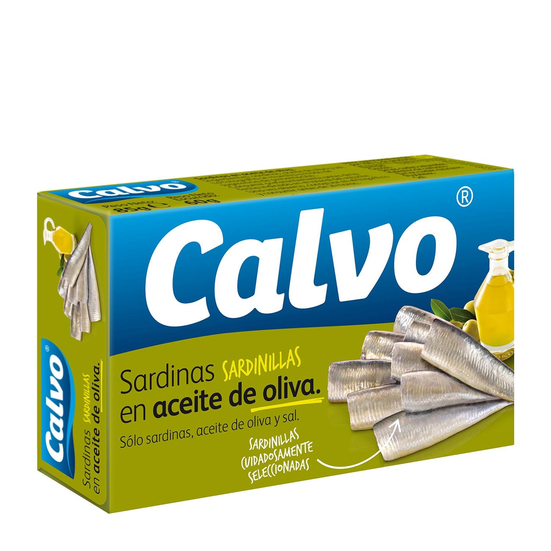 Sardinillas en aceite de oliva Calvo 60 g.