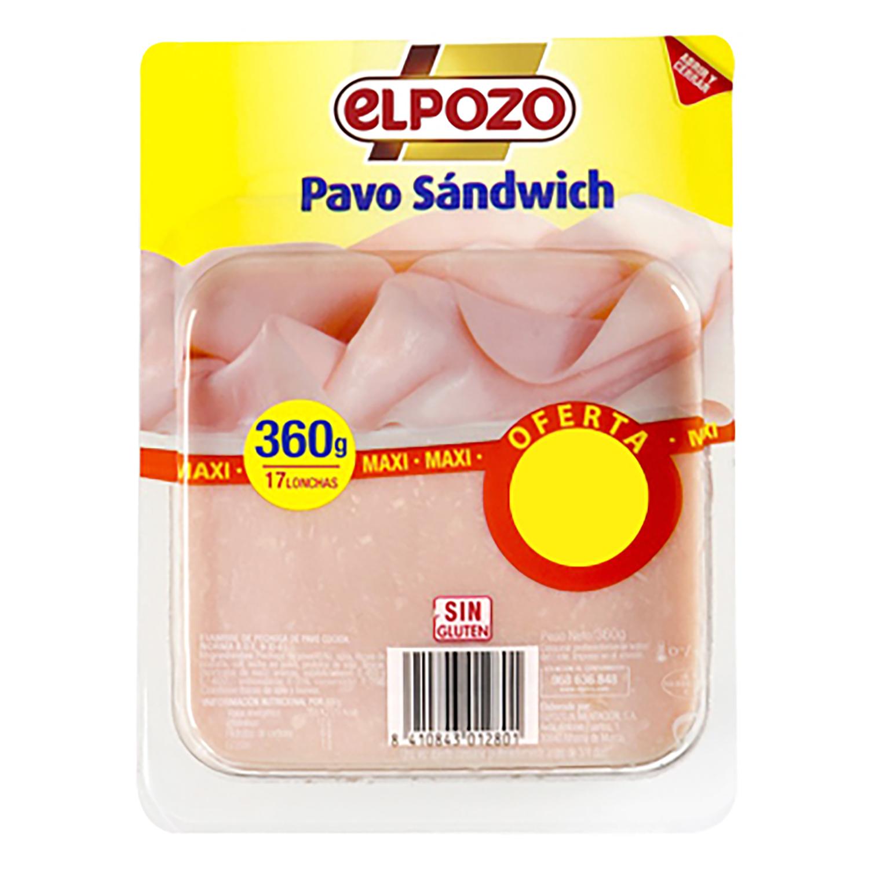 Lonchas de pavo El Pozo 360 g.