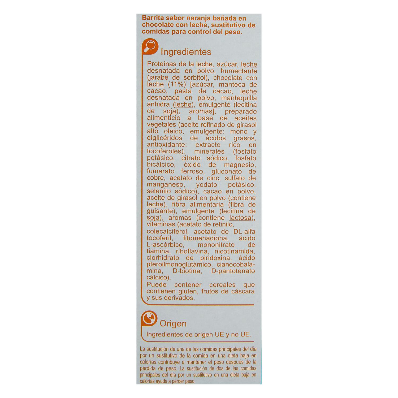 Barritas sustitutivas sabor naranja - 2