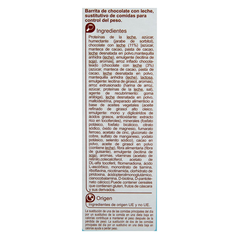 Barritas sustitutivas sabor chocolate Carrefour 210 g. - 2