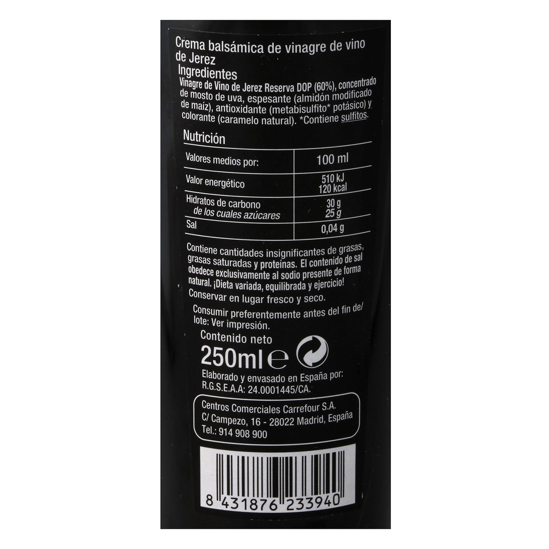 Vinagre balsámico de Jerez Carrefour Selección 250 ml. -